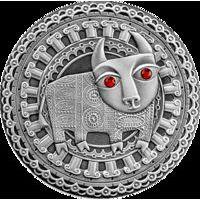 Телец 20 рублей серебро 2009